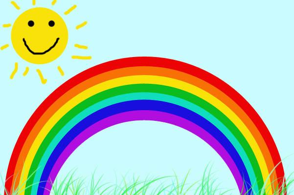 I sette bambini litigiosi yoga bambini - Arcobaleno a colori e stampa ...