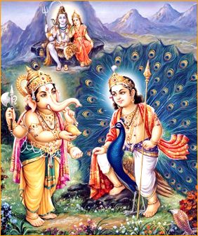 Ganesha e Kartikeya