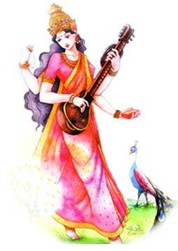 Saraswati suona la vina